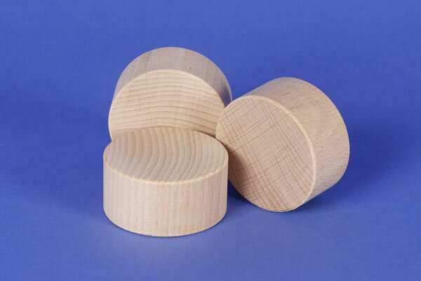 cylinder of beechwood Ø 2 inches x 1 inch