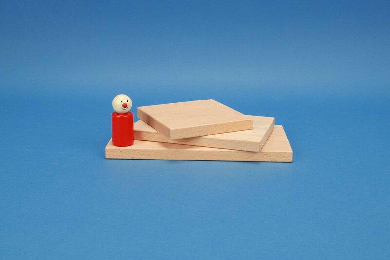 wooden blocks flat 12 x 1,5 cm