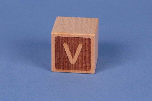 Letter cubes V negative
