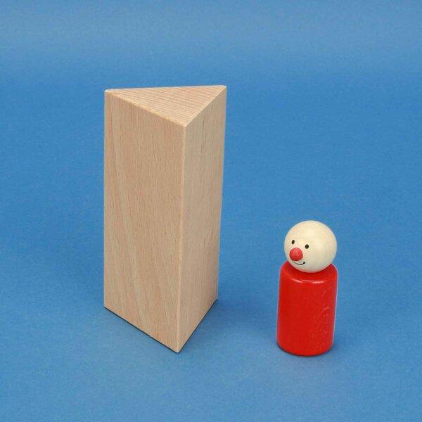 wooden triangular pillar 6 x 6 x 12 cm equilateral