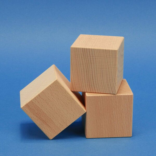 wooden cubes 1 inch