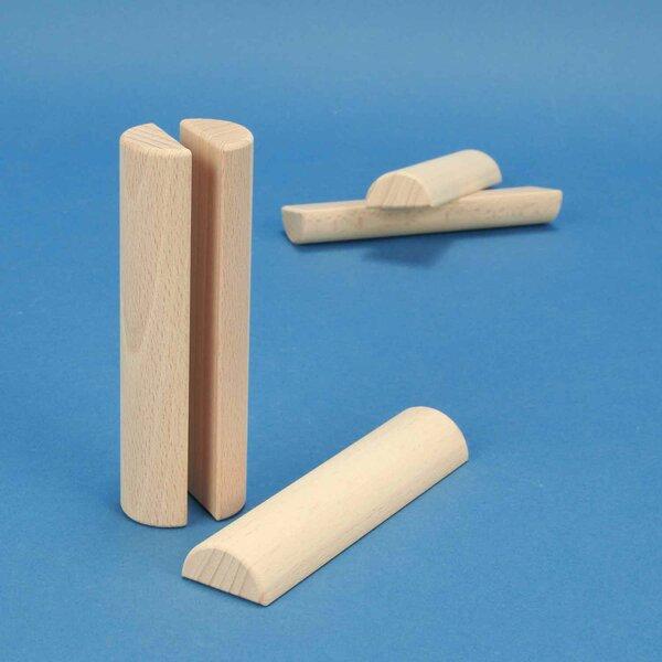 wooden half pillar Ø 3 x 12 cm