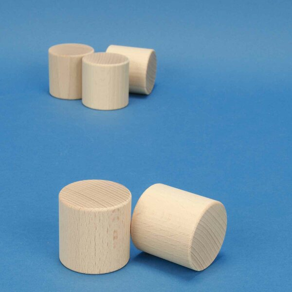 Beechwood-Cylinder Ø 4,5 x 4,5 cm
