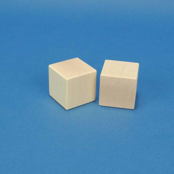 wooden cubes maple 4,5 cm