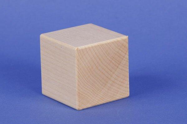 wooden cubes maple 6 cm