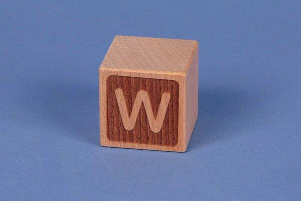 Letter cubes W negative