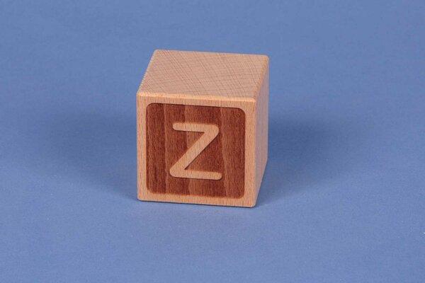 Letter cubes Z negative
