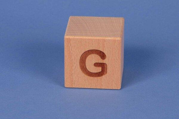 Letter cubes G positive