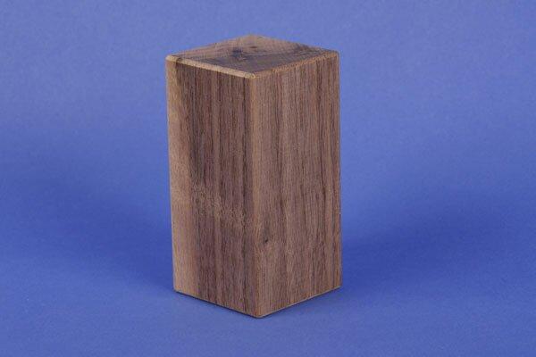 wooden blocks from walnut 9 x 4,5 x 4,5 cm